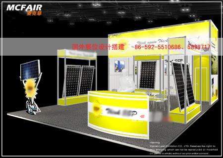 太阳能展展台设计,国外特装展位设计搭建,国外展台搭建